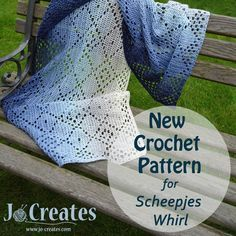 New Crochet Pattern for Scheepjes Whirl. Try this simple crochet shawl using scheepjes whirl