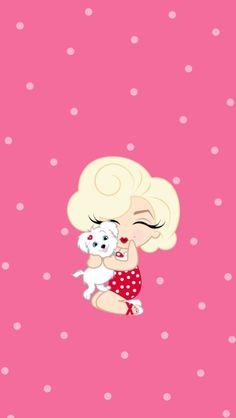 Mini Marilyn Wallpaper