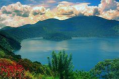 Lago de Coatepeque El Salvador Hope to go back someday!  El Salvador's Crater Lake :)