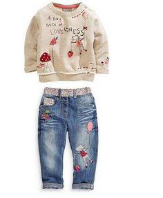 Children's Clothing Sets For Girls Clothing  Long-Sleeved  Sweater  Jeans Kids Suits lavish-pursuit.myshopify.com