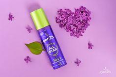 Хочешь быть нежной и воздушной сегодня? С кремом для укладки got2b AllStar легко придать стайлингу желаемую форму и примерить новый образ. #got2b #purple