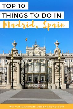 Must Do Madrid: The Top 10 Things To Do In Spain's Capital · Discover the top 10 things to do in Madrid, From the beautiful Retiro Park to the Royal Palace to world class museums, there is so much to do in Spain's beautiful capital! Spain And Portugal, Portugal Travel, Spain Travel, Stuff To Do, Things To Do, Fun Stuff, Visit Madrid, Madrid Travel, Adventures Abroad