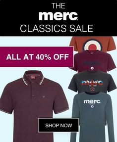 Iconic Merc pieces starting at £15 | Shop now at: http://www.merc.com/the-classics-sale | The promo ends soon