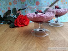 chia pudding met rood fruit