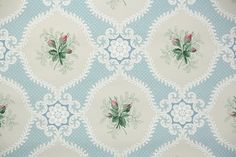 1940s Vintage Wallpaper by the Yard Pink by HannahsTreasures