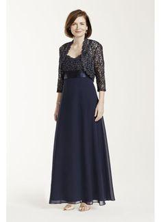 Long Sleeve Metallic Lace Jacket Dress 3726