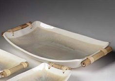 love the simplicity of Cheryl Wolff's work and these bamboo handles