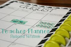 Teacher Planner in a Discbound Notebook {Monday Made It} What you need to get started with a discbound ARC notebook