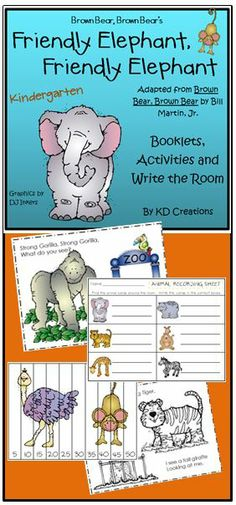 """""""Elephant, Elephant"""" is a fun adaption of the old Kindergarten favorite """"Brown Bear, Brown Bear"""" that will be a great addition to your zoo unit!"""