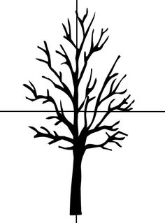 Bare Tree Template Bare Tree Coloring Page Bare Tree Outline Tree Simple Family Picture Silhouette Painting, Silhouette Clip Art, Tree Silhouette, Silhouette Images, Birch Tree Mural, Tree Outline, Family Tree Poster, Tree Coloring Page, Tree Clipart