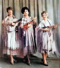 Musical trio. Colorized by Steve Smith Colorized History, Colorized Photos, Steve Smith, White Image, Famous Faces, Ukulele, Vintage Black, Musicals, Two By Two