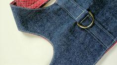 Pet Harness Blue Denim Simplicity by ScotsPlace on Etsy, $21.00