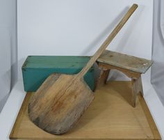 Old Pizza Peel Wooden Paddle to Use or For by 13thStreetEmporium, $40.00
