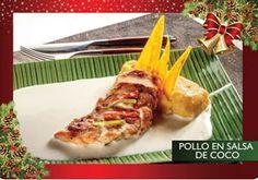 Pollo en leche de coco y puré de plátano maduro - Receta Colombiana - Gastronomía - Colombia.com