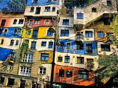 Afbeeldingsresultaat voor hundertwasser architecture