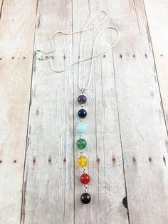 7 Chakras Necklace - Meditation Necklace - Yoga Necklace - Yoga Chakra Necklace - Chakra Gemstone Pendant - Chakra Necklace - Yogi Gift