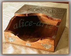 Resultado de imagen para servilletero de madera