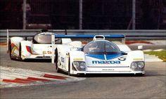 Mazda MXR-01 and Peugeot 905 Monza 1992.