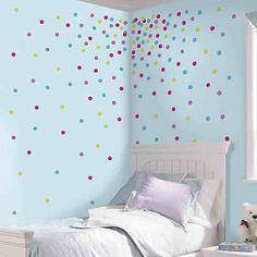 MYAGENCIES RMK2712SCS Wandsticker, Punkte bunt, 180-tlg., RoomMates | myToys