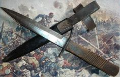 1&2) DEMAG WW1 Trench knife-Armeedolch made by Deuteusche Machinenfabrik AG - Duisburg. Overall lenght: 278 mm., blade lenght: 153 mm.