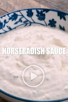 Horseradish Sauce by Savory Experiments. This recipe comes together in less than 5 minutes with a sour cream base, tangy horseradish, this is a winner that will rival any steak sauce! #steaksauce #sauce Best Dinner Recipes, Brunch Recipes, Breakfast Recipes, Creamy Horseradish Sauce, Creamy Sauce, Recipe Videos, Food Videos, Brownie Recipes, Chocolate Recipes
