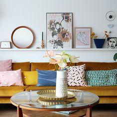 MY ATTIC voor vtwonen / woonkamer / livingroom / velvet couch ...