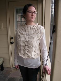 Ravelry: Cropped Leaf Lace Cardi pattern by The Knit Knot