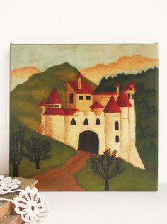 Fairy Tale Castle Nursery Art Giclee Print  by pictureatale, $49.99