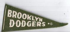 Vintage Brooklyn Dodgers Pennant   eBay