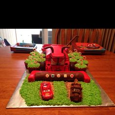 This could be cute... With little tipped tractors on the cupcakes??(and a toy Frank?;))