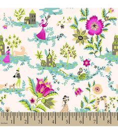 Jennifer Paganelli Quilt Fabric- Katie Lady Fred With House- recover pillow