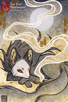 Rauch ich ist Teil einer Reihe von ACEO Rauch Füchse. --------------Gesamtgröße: 4 x 6 Zoll Edition: offene Grenze: keine Grenze; gedruckt am