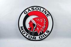 Red Indian Motor Oils Sign