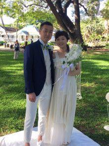 挙式のお写真頂きました♪|結婚式の新郎タキシード/新郎衣装はメンズブライダルへ