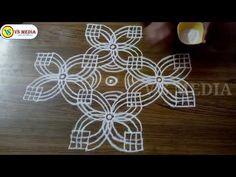 Indian Rangoli Designs, Rangoli Border Designs, Small Rangoli Design, Rangoli Designs With Dots, Rangoli Designs Images, Rangoli Borders, Kolam Rangoli, Traditional Rangoli Design, Sankranthi Muggulu