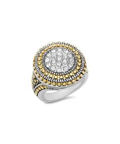 Look what I found on #zulily! Cubic Zirconia & Two-Tone Circle Ring #zulilyfinds