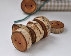 tree branch buttons • set of 12 mix birch wooden buttons  • wood button