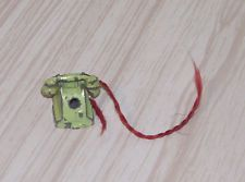 Vtg Doll House Miniature Tootsietoy Antique Telephone Garden Metal Item Toy