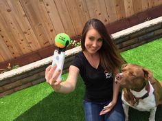 """Pooch Selfie is a smartphone attachment which helps pet owners take better pictures and selfies with their dogs. Pooch Selfie takes advantage of a dog's natural draw and focus to a tennis ball and uses this focus to hold their gaze as you snap away that perfect portrait picture. Turn the attention to your smartphone's front facing camera and use Pooch Selfie to capture the best selfies you'll ever take with your pup!"""