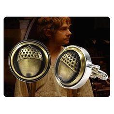 The Hobbit Bilbo Baggins Acorn Button Cufflinks