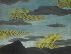 René Magritte (Belgian, 1898-1967), La passion des lumières, 1927. Oil on canvas, 50 x 65cm.
