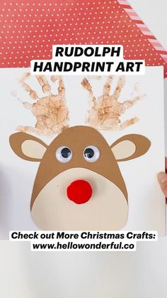 Art Activities For Toddlers, Christmas Activities For Kids, Craft Activities, Christmas Arts And Crafts, Kids Christmas, Holiday Crafts, Diy Crafts For Kids Easy, Diy Arts And Crafts, Handprint Art