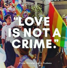 Canadian Prime Minister Justin Trudeau receives the Laurent McCutcheon Award for commitments against homophobia and transphobia. Lgbt Love, Lesbian Love, Justin Trudeau, Sophie Gregoire Trudeau, Barack Obama, Lgbt Quotes, Crime, Feeling Nothing, Lgbt Rights