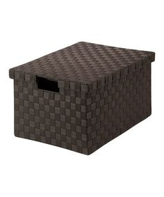 Loving this Espresso Woven File Box on #zulily! #zulilyfinds