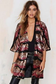 Oh My Love Bye Bye Love Sequin Kimono | Shop Clothes at Nasty Gal!