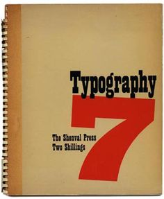 TYPOGRAPHY 7 Winter 1938 Robert Harling [Editor] with James Shand and Ellic Howe
