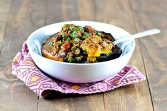 Sweet 'n Spicy Indian Chili in Winter Squash Bowls | Cara's Cravings