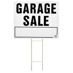 "Hy-Ko 20"" x 24"" Garage Sale Lawn Sign"