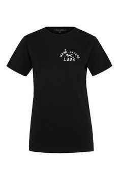"""The Marc Jacobs Casting Call Tee is made from a soft cotton faication, and features an exclusively designed logo with a cigarette and lipstick forming a cross shape and the words """"Marc Jacobs 1984""""; a historic year for the and. Details: short sleeves; crew neck; classic fit. Unisex100% Cotton"""