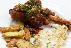 Lamb Shanks Braised With Red Wine & Rosemary – Italian Food Forever